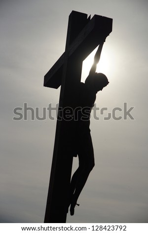 Silhouette of Jesus Christ,  Hill of Crosses, Lithuania