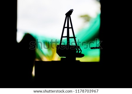 Silhouette of Platforms oil and gas model. #1178703967