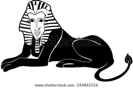 Silhouette of sphinx