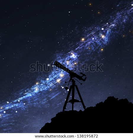 Silhouette of  Telescope