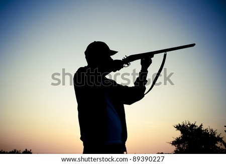 Silhouette of the hunter