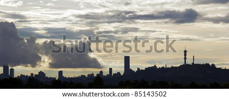 the Johannesburg skyline.