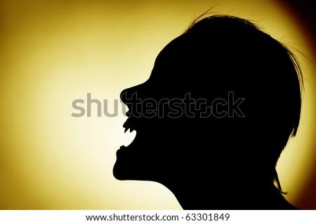 Vampire Profile Silhouette Silhouette Of Vampire ...