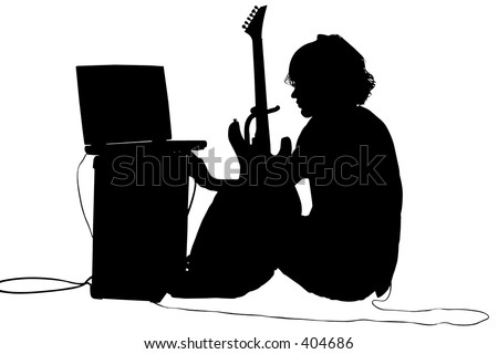 Teen boy with guitar, amp. Save to a lightbox ▼. Please Login.