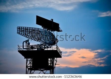 silhouette radar tower plane