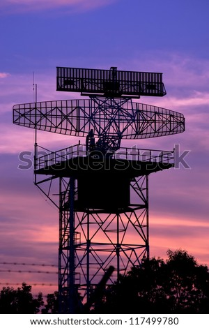 silhouette radar tower plane