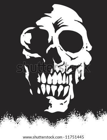 silhouette skull image