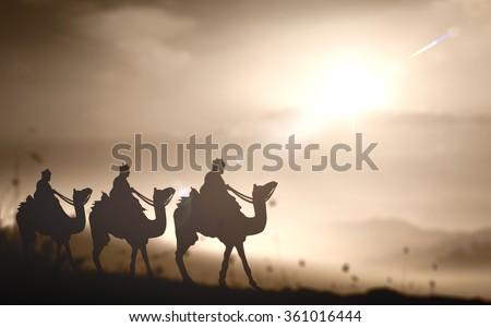 silhouette three wise men....