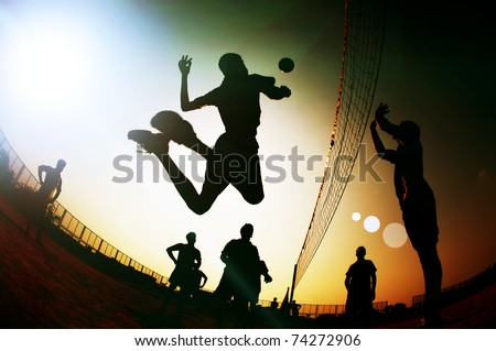 silhouette Volleyball player #74272906