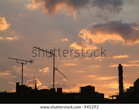 Silhouetted Rooftops