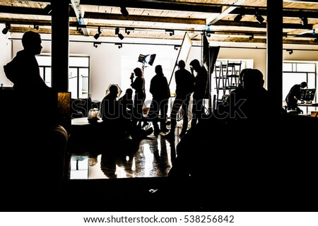 silhouettes backstage  - Shutterstock ID 538256842