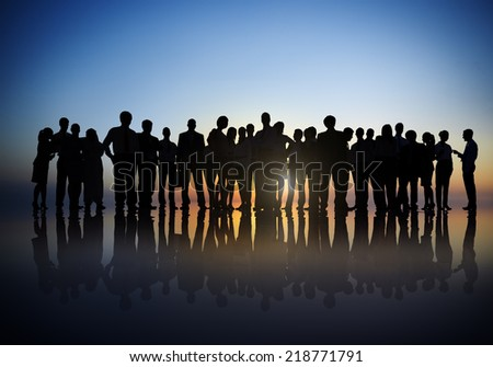 Silhouettes of Business People Outdoors #218771791