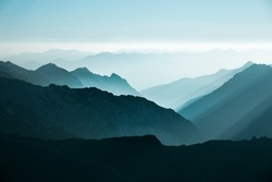 Silhouettes of the mountains