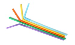Silicone drinking straw for reusable