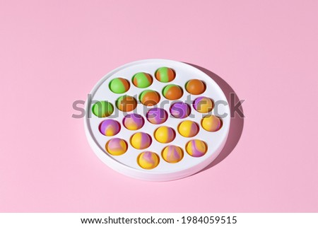 Silicone toys antistress pop it, simple dimple. New trend fidget for kids DOF Stock photo ©