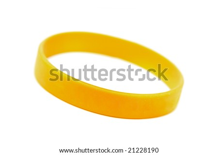 "silicone wristband, bracelet on the white background ""wish of "" (isolated with clipping path)"