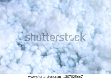 Siliconized fiber filling material. Background. Stok fotoğraf ©