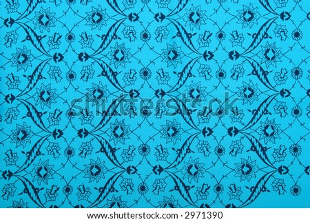 Silk cloth and hand painted flowers background
