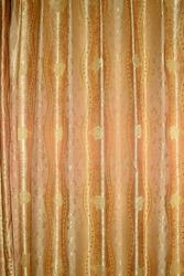 Silk curtains.  In a hotel room in Vientiane.