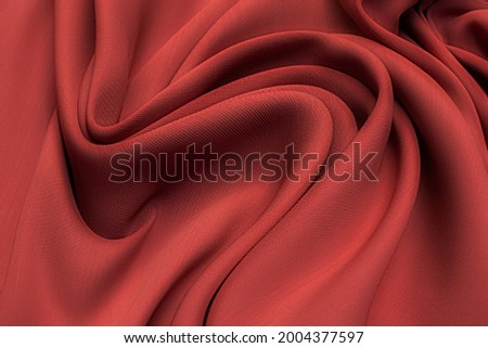 Silk fabric, cady, colors of spicy coral in artistic layout Zdjęcia stock ©