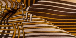 Silk fabric, geometric intersecting lines, brown and white pattern of straight lines in different shades, geometric pattern, set for your projects, Texture, background, pattern
