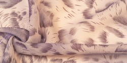 silk fabric in African style brown. For designer, texture pattern, background collection.