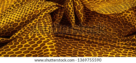 silk fabric pattern, animal skin, All projects are new and designed in our studio by designers who have in-depth knowledge in the field of fabric photo-printing and the use of their final product #1369755590