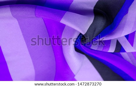 Silk fabric, striped fabric blue azure pearly white lines, exquisite design. The photo is intended for, interior, imitation, fashion designer, marketing, architecture, sketch, layout, entourage #1472873270