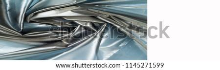 Silk fabric texture. Blue Steel. Very thin, transparent #1145271599