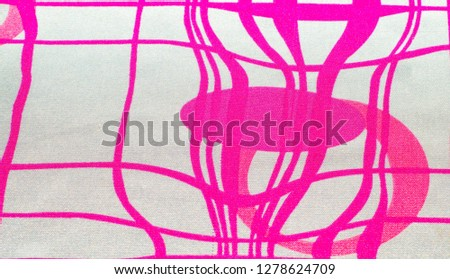 Silk fabric texture, red and white, abstract drawing #1278624709