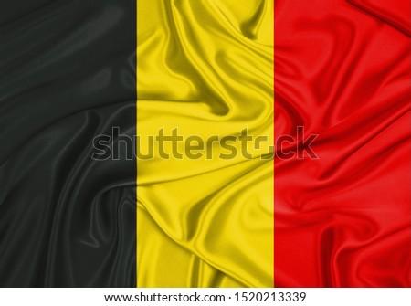 Silk Flag of Belgium. Belgium Flag of Silk Fabric. #1520213339