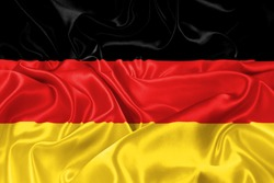 silk flag of Germany