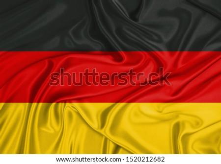Silk Flag of Germany. Germany Flag of Silk Fabric. #1520212682