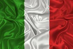 silk flag of Italy