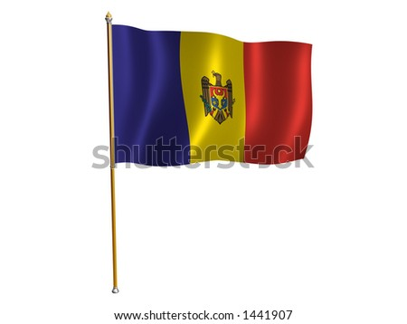 Eurovisión 2011 - Página 3 Stock-photo-silk-flag-of-moldova-1441907
