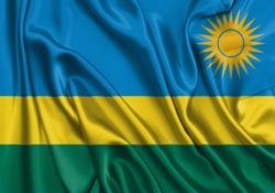 Silk Flag of Rwanda . Rwanda Flag of Silk Fabric