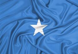 Silk Flag of Somalia. Somalia Flag of Silk Fabric.