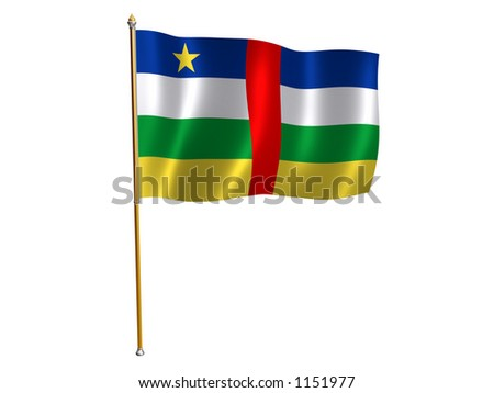 Silk flag of the Central African Republic