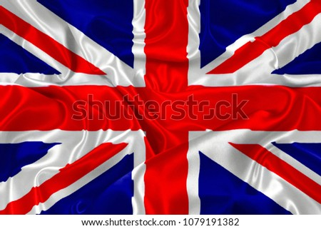 silk flag of United Kingdom #1079191382