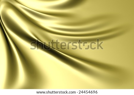 Silk gold satin fabric