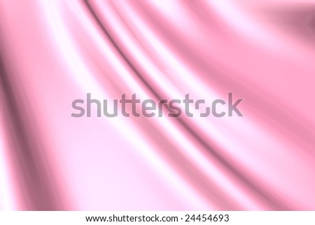 Silk pink satin fabric - stock photo