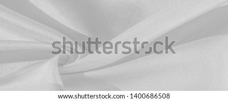 Silk, platinum white. The photo is intended for, interior, imitation, fashion designer, marketing, architecture, sketch, layout, entourage