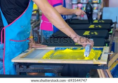 Silk screen Printing shirt