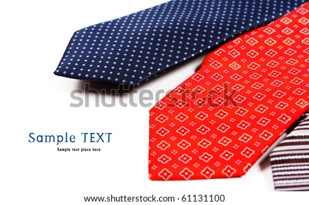 Silk ties isolated on white