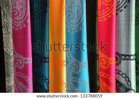 Silk Vietnamese scarf background