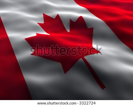 Silky Canada Flag