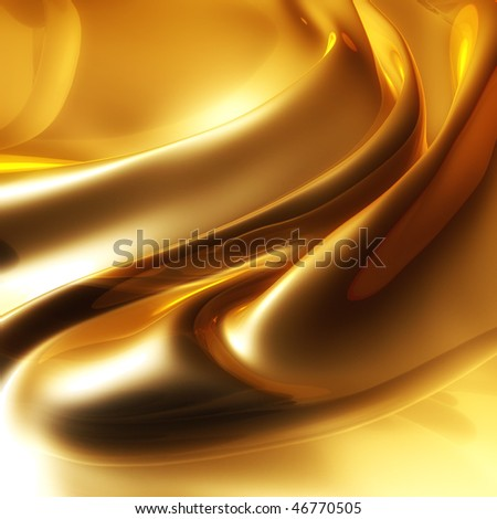 Silky elegant gold abstract background - stock photo