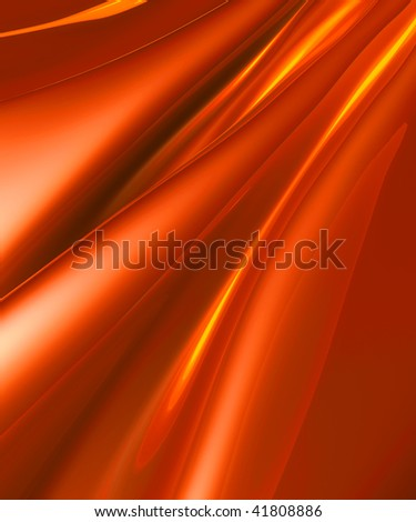 Silky red metal fractal abstract illustration