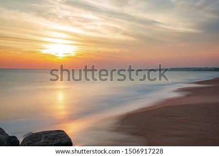 Silky Shots, Seascapes, Rajakamangalam Thurai, Kanyakumari, Tamil Nadu, India.