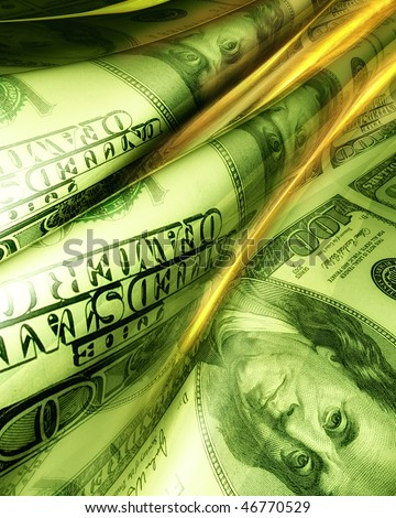 Silky smooth and glowing dollar abstract background illustration